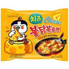 Samyang Cheese Hot Spicy Chicken Ramen Noodles 1 Pack for sale online Chicken Flavored Rice, Chicken Flavors, Cheese Ramen, Fire Chicken, Cheese Brands, Rice Crisps, Cheese Tasting, Ramen Noodles, Samyang Ramen