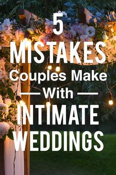9 Mistakes Brides Always Make When Planning An Intimate Wedding Just because your wedding day is small, doesn't mean it isn't special! Avoid these 9 mistakes w Intimate Wedding Reception, Small Wedding Receptions, Small Intimate Wedding, Intimate Weddings, Wedding Vows, Wedding Guest Book, Wedding Couples, Wedding Day, Small Weddings