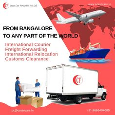 Find a variety of Reliable & Stress Free services from International Relocation to Customs Clearance. Get your Customised Quote Today! Freight Forwarder, Relocation Services, Packers And Movers, Stress Free, Ocean, Quote, World, Quotation, The World
