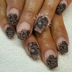 136 gorgeous lace nail art designs – page 11 Nail Art Designs, Lace Nail Design, Lace Nail Art, Marble Nail Designs, Elegant Nail Designs, Lace Nails, Fabulous Nails, Perfect Nails, Gorgeous Nails