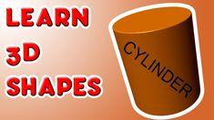 Learn Shapes CYLINDER - Fun kindergarten lesson for kids (+playlist) 3d Shapes Kindergarten, Teaching Shapes, Numbers Kindergarten, Kindergarten Lesson Plans, Kindergarten Learning, Preschool Math, Math Classroom, Fun Math, Math Activities