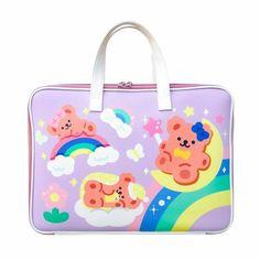 Cartoon Bear Sleeve Case Bag For 11 12 13.3 inch Cute Rabbit Laptop Notebook Bag For MacBook Air Ipad Computer Handbag Bag - 2