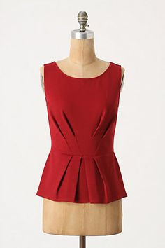 Tucked Peplum Tank, Anthropologie