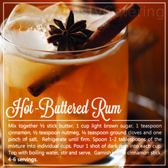 Hot Buttered Rum Holiday Drink Alcoholic Drinks Rum, Drinks Alcohol Recipes, Rum Cocktail Recipes, Booze Drink, Alcholic Drinks, Rum Recipes, Keto Drink, Cocktail Drinks, Party Drinks