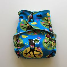 Organic OS fitted diaper cloth diaper by Turn A New Leaf Designs on Etsy