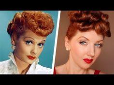 Transforming Into: Lucille Ball / Makeup & Hair Tutorial - YouTube