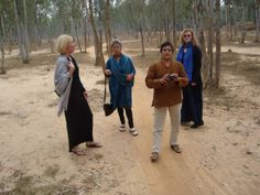 In the woods, with new friends. Santiniketan, West Bengal.