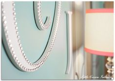 Project Nursery - nursery-wall-monogram
