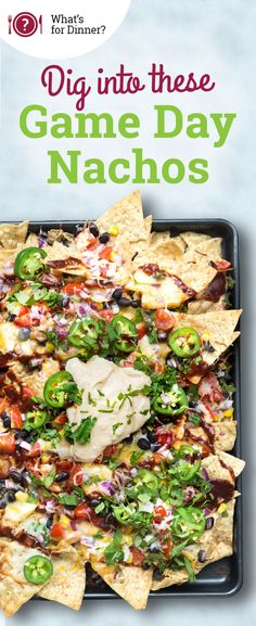 Dig into smoky nachos overflowing with veggies and all the quintessential fixings, topped with the fresh taste of Marzetti Southwest Ranch Veggie Dip. Finger Food Appetizers, Appetizer Recipes, Cooking Recipes, Healthy Recipes, Healthy Food, Healthy Eating, Football Food, Game Day Food, Big Game