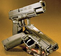 Springfield XD, available in 9x19 mm, .357 SIG, .40 S, .45 GAP and .45 ACP calibers.