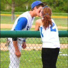 Baseball couple (: <3