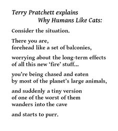Why Humans Like Cats - Terry Pratchett explains