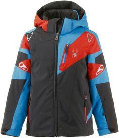 #Spyder #Skijacke #Jungen #schwarz/rot/blau