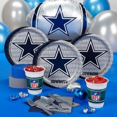 DALLAS COWBOYS NFL FOOTBALL BIRTHDAY PARTY SUPPLIES KIT PACK DECORATIONS NEW | eBay