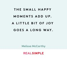 Inspiring words from Melissa McCarthy.