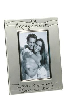 Two Tone Silver Plated Engagement 4' x 6' Photo Frame by Haysom Interiors >>> Check out this great product. (This is an affiliate link and I receive a commission for the sales)