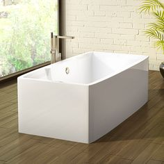 Alcove's stylish rectangular bathtub / Iasomie Collection Alcove, Bathtub, Bathroom, Stylish, Collection, Standing Bath, Washroom, Bath Tub, Bath Room