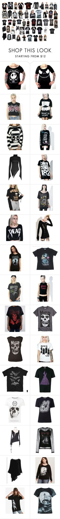 """""""Shirts #10"""" by switchback13 on Polyvore featuring Hot Topic, Goodie Two Sleeves, Iron Fist, Jaded, Tsurt, Topia, Tripp, Disney, Junk Food Clothing and Petals and Peacocks"""