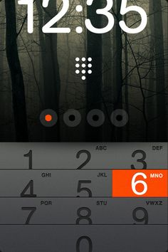 Swipe up to unlock (concept app) | Leigh HIbell - http://www.madedigital.co.uk