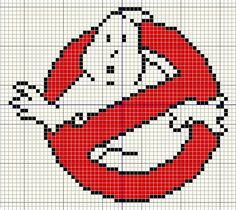 Ghostbusters logo Cross stitch design                      Colour            DMC Number            Anchor Number               Black        ...