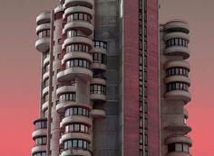 alien architecture captures real buildings in benidorm by al mefer   Netfloor USA