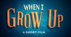 """""""When I Grow Up"""" by the Academy. Growing up can be tough, and it's unfortunately all too easy to lose sight of your dreams. If you need a dose of inspiration and a trip down nostalgia lane, watch this """"When I Grow Up"""" short film from The Academy. Growth Mindset Videos, Up Animation, Visible Learning, Career Day, Leader In Me, Film D'animation, Brain Breaks, When I Grow Up, School Counselor"""