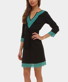 Look at this Black & Green Indico Dress on #zulily today!