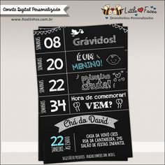 Chalkboard Timeline Baby Shower Printable Invitation - Printable DIY Invitation - Personalized Invite card DIY party printables will save you time and money while making your planning a snap! Printable Invitations, Baby Shower Invitations, Baby Tea, Baby Shower Chalkboard, Diaper Raffle, Baby Shower Printables, Baby Party, Baby Boy Shower, Baby Kids
