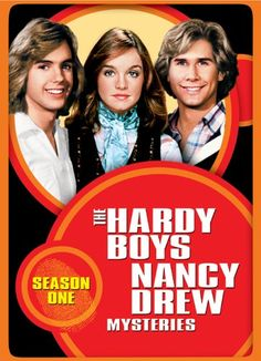 The Hardy Boys/Nancy Drew Mysteries. The series starred Parker Stevenson and Shaun Cassidy as amateur sleuths and Pamela Sue Martin as girl detective Nancy Drew. Universal Studios, Mystery Tv Series, Mystery Books, Pamela Sue Martin, Parker Stevenson, Detective, Joe Hardy, Nancy Drew Books, Nancy Drew Mysteries