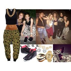 Camo Night Out., created by dopegenhope on Polyvore