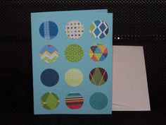 blue w/colorful circles card (vertical)