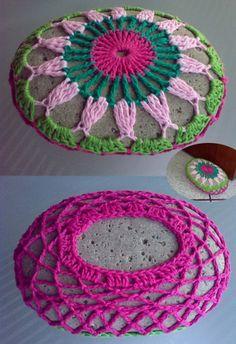 Crocheted Rock - My new door stopper!!! by LauraLRF, via Flickr