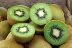 There is twice as much vitamin C in kiwifruit as there are in oranges. You only need one kiwifruit each day to get your recommended daily intake of vitamin C.