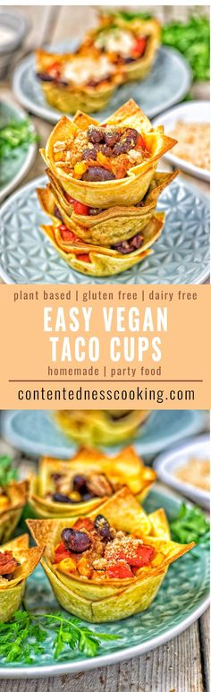 Easy Vegan Taco Cups | #vegan #glutenfree #contentednesscooking #plantbased #dairyfree