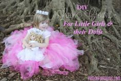 DIY Lace Crowns…with matching Crown for 'Dolly'! – Jenni