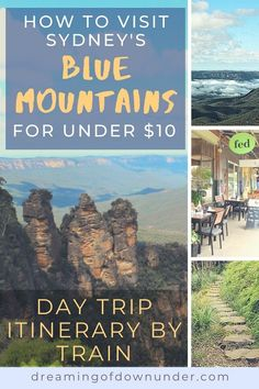 Visit the stunning Blue Mountains, Sydney for under $10 on this easy-to-follow day trip itinerary by train. Enjoy the historic Australian towns of Katoomba and Leura, the famous Three Sisters rock formation at Echo Point and a choice of walks at Wentworth Falls. #australia #bluemountains #mountains #sydney #travel Sydney Australia Travel, Coast Australia, Blue Mountains Day Trip, Cities In Wales, Australian Photography, Sydney Beaches, Visit Sydney, Best Weekend Getaways, Sydney City