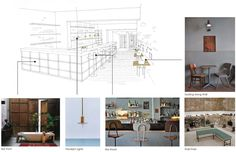 Mandy Edge's concept presentation boards for Barrio Chino, Potts Point