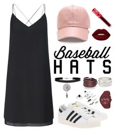 """Untitled #14"" by spela-k ❤ liked on Polyvore featuring Miss Selfridge, adidas Originals, Lime Crime, New Look, Sif Jakobs Jewellery, Charlotte Russe, Puma, Topshop, De Buman and baseballcap"