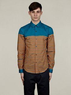 Adidas x Opening Ceremony Mens Striped Dress Shir | oki-ni