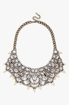 Runway approved! Obsessed with this BaubleBar 'Gothic Fang' bib necklace.