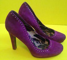 Jessica Simpson Debbie Shoes SZ 8.5  Purple Suede High Heel Pumps Very Berry…