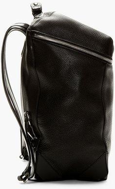 Alexander Wang Black Pebbled Leather Wallie Backpack in Black for Men - Lyst