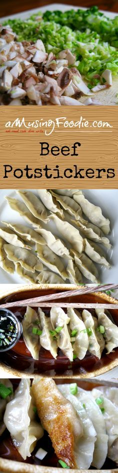 Beef Potstickers - so easy to make, and absolutely delicious to eat! YUM!