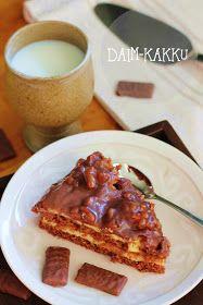 Sokeriprinsessa: Daim-kakku Formal Dinner, No Bake Cake, Waffles, French Toast, Yummy Food, Baking, Breakfast, Sweet, Desserts