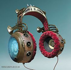 Jules Verne Steampunk Headphones   :hip hop instrumentals updated daily => http://www.beatzbylekz.ca