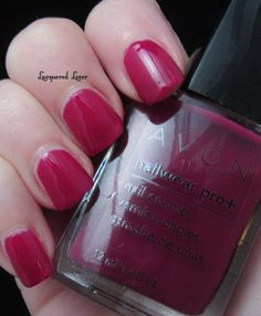 Lacquered Lover: Avon Nailwear Pro+ Nail Polish. 2 Coats of Berry Smooth