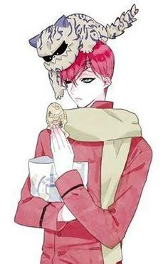 Gaara, Shukaku, Ichibi, cute, chibi, food; Naruto