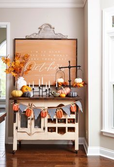 If you consider yourself crafty, there are lots of DIY fall wall decor ideas you can whip up for the season. Think cheerful pom-pom garlands, dressed-up embroidery hoops, handmade wreaths, and fall signs. These gorgeous fall wall decor ideas are here to inspire your seasonal refresh. #falldiy #walldecor #fallhomedecorideas #crafts #diyhomedecor #bhg Thanksgiving Decorations, Seasonal Decor, Autumn Decorations, Thanksgiving Ideas, Home Office, Potted Mums, Autumn Interior, Diy Projects Cans, Fall Projects