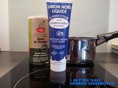 mettez blanc de meudon et savon noir pour laver plat brulé