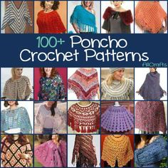 100+ Free Poncho Crochet Patterns